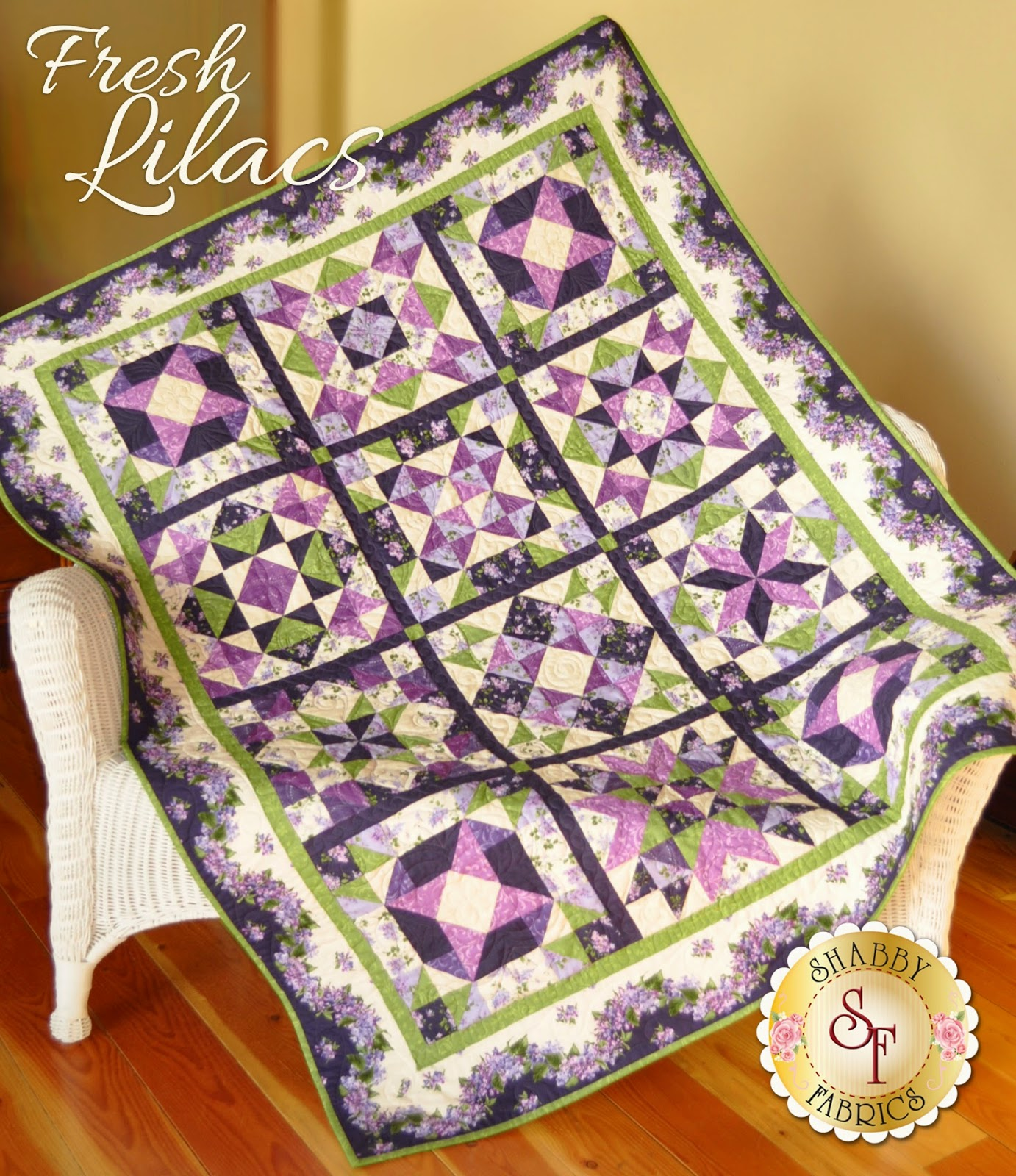 Fresh Lilacs Block of the Month from Shabby Fabrics