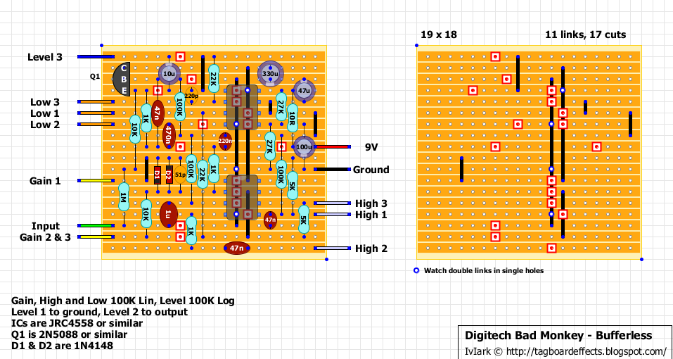 guitar fx layouts digitech bad monkey bufferless rh tagboardeffects blogspot com