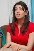 Kajal Agarwal Hot Photo Stills In Red Dress