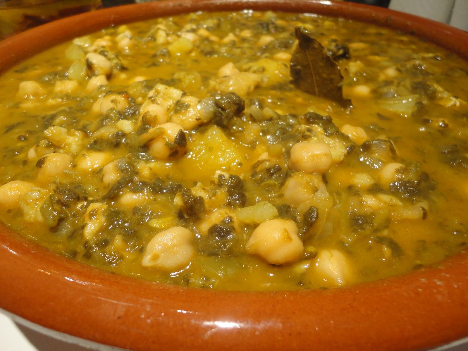 Potaje de garbanzos con bacalao y acelgas legumbres y - Potaje de garbanzos con bacalao ...