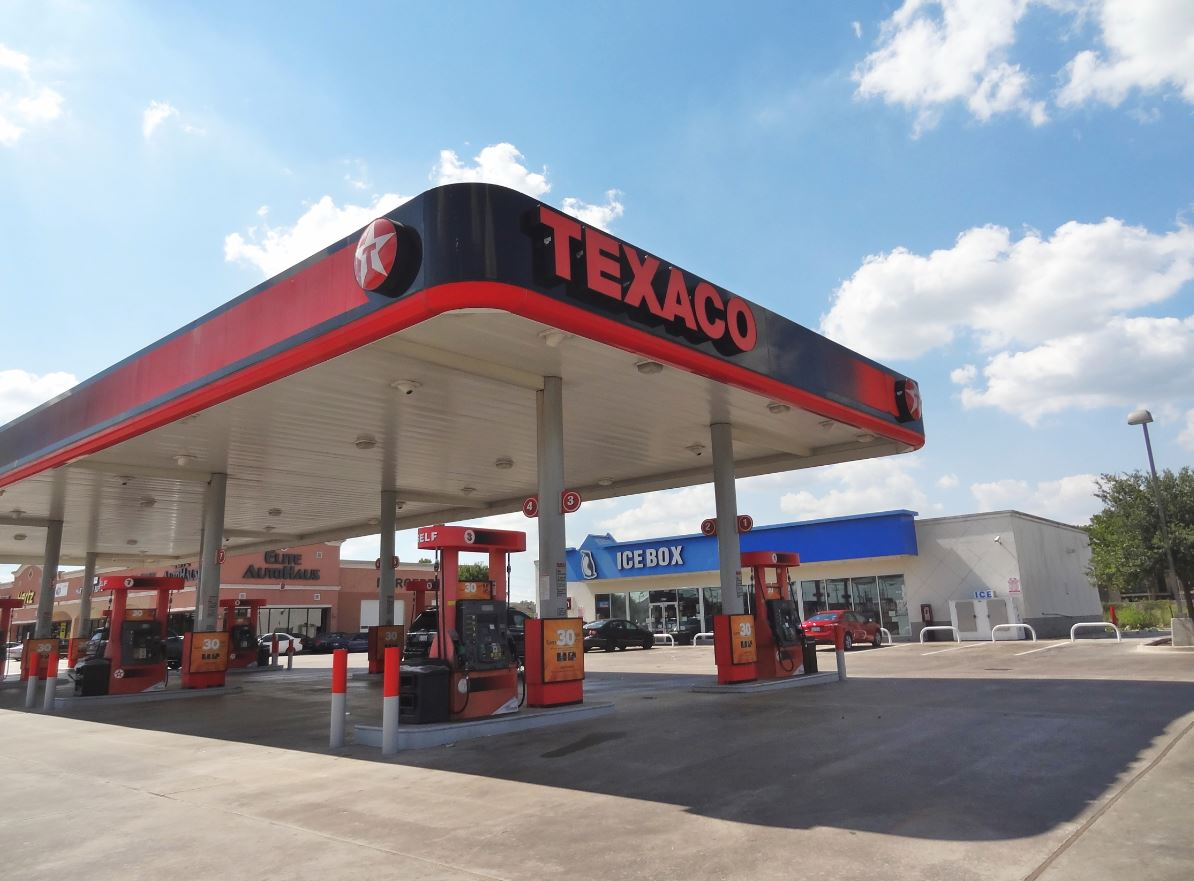 Pics For > Texaco Gas Station