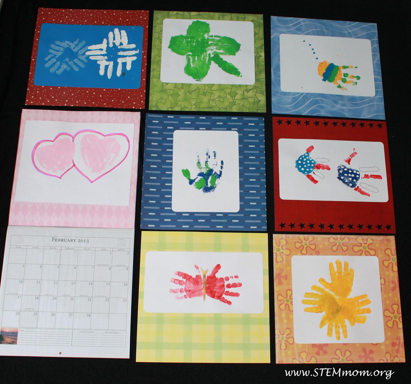 STEM Mom: Easy Handprint Calendar