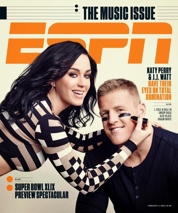 Singer, Songwriter, Actress: Katy Perry - Espn Magazine, February 2015