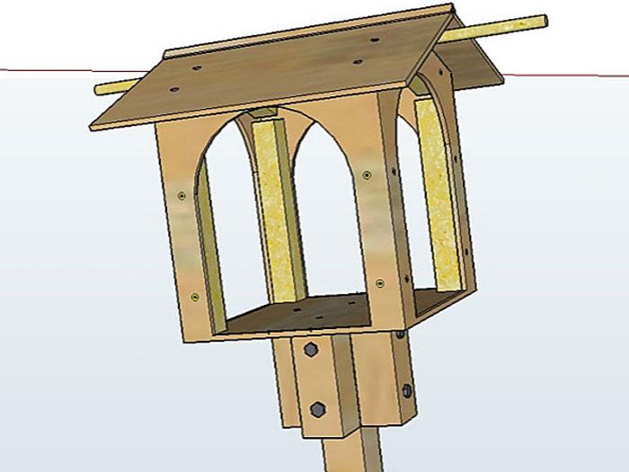 Fabriquer une mangeoire pour oiseaux - Support boule de graisse pour oiseaux ...