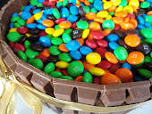 M&amp;M Barrel Cake