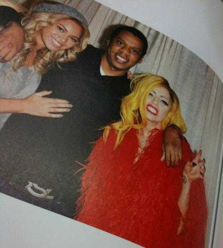HOT SIGHTS: Beyoncé, Jay-Z and Lady Gaga backstage pic!