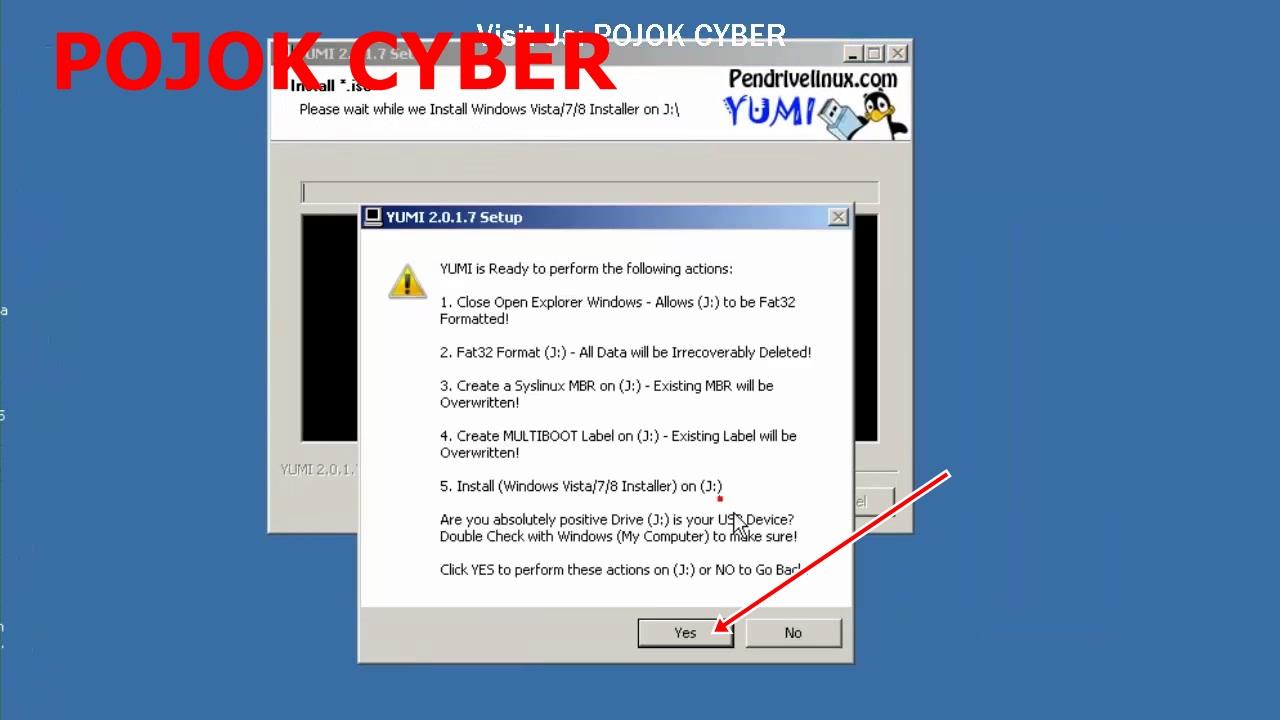 how to make bootable usb windows 7 using yumi