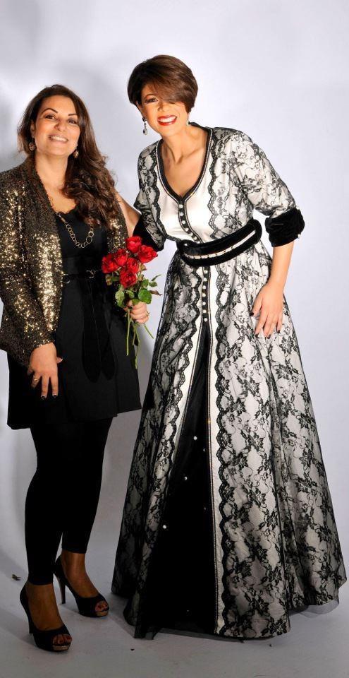 Robe de soirРіВ©e blanche et rose