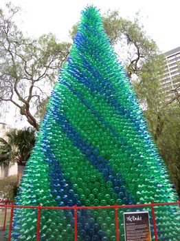 How to recycle recycled towering christmas trees Christmas tree ideas using recycled materials