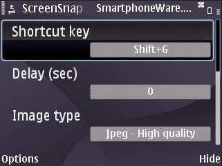 Antarmuka utama aplikasi screenshot screensnap