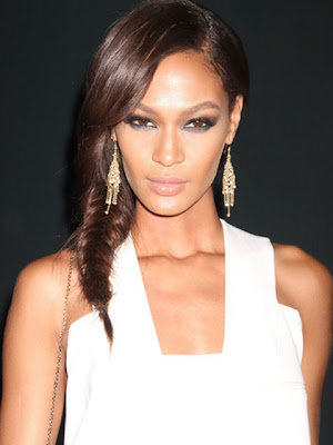 Joan Smalls Gold Chandelier Earrings