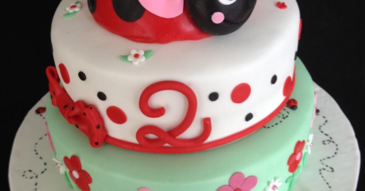 Ladybug Cake In A Mixing Bowl