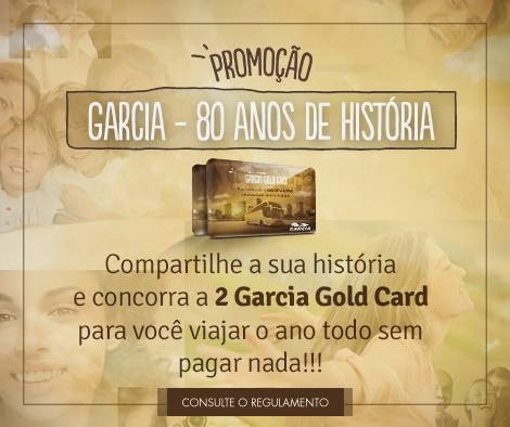 """Promoção Viação Garcia - """"Garcia 80 anos de histórias"""""""