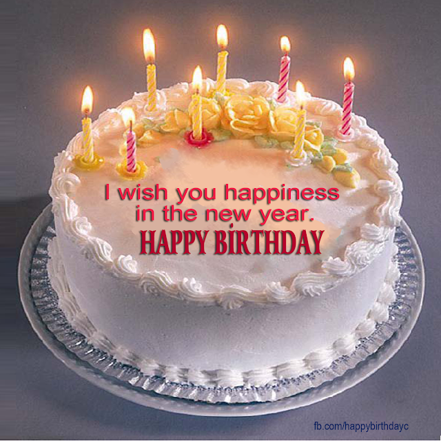 New Year Birthday Cake Images : Candles lit the cake birthday greeting card - c327 ...