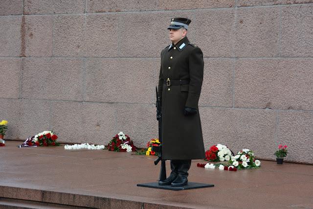 Freedom Monument Riga soldier