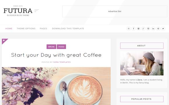 Futura Responsive Blogger Template - Template tuyệt đẹp cho blog cá nhân