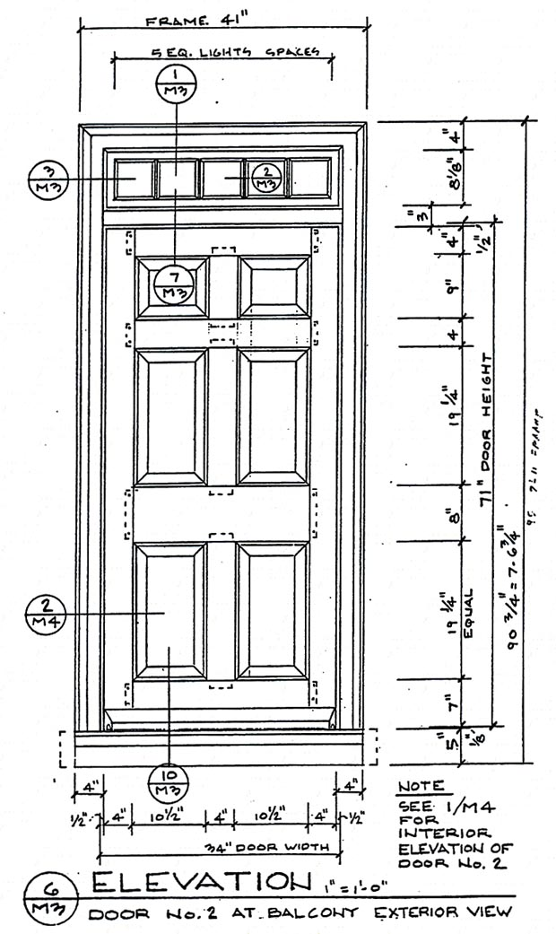 Wood Door Elevation : Cwm woodwindows muhlenburg house trappe pa
