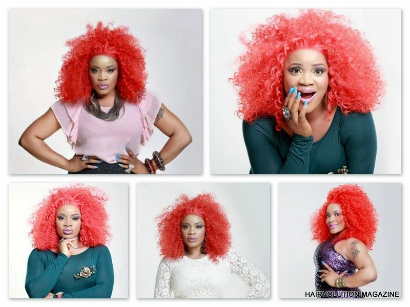 UCHE OBODO'S RED HAIR FOR PHOTOSHOOT