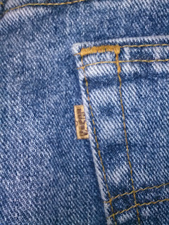 Levi's 545 Jeans pants showing the brown label.