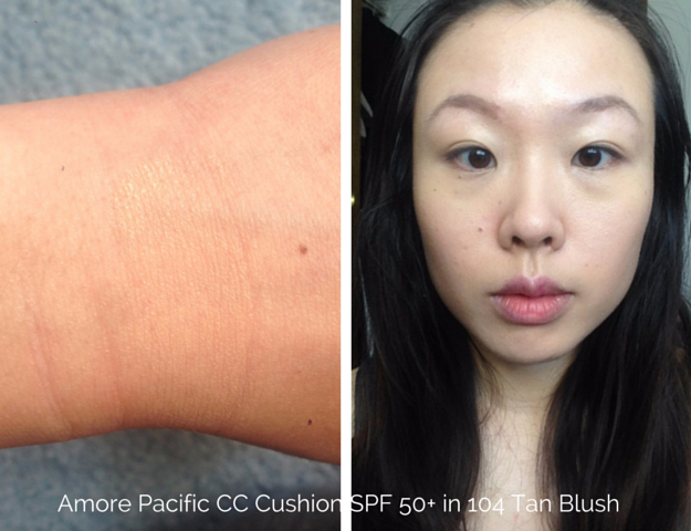 amore pacific cc cushion spf 50 broad spectrum review 104 tan blush