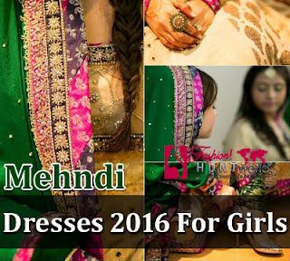 Mehndi Dresses 2016-2017