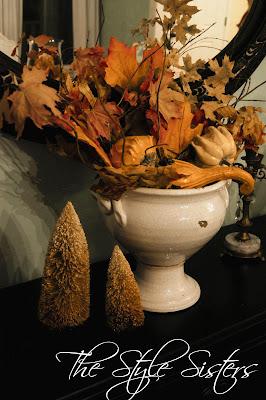 Fall dining room table, Fall Centerpiece pumpkins