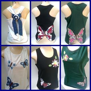 Como Customizar Camisetas borboletas e tecidos