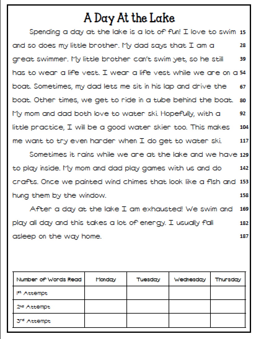 Worksheet 3rd Grade Reading Passage reading fluency worksheets davezan free passages for 1st grade building in