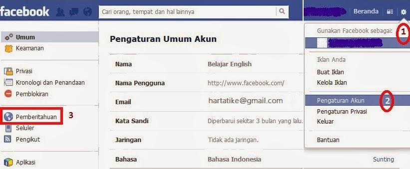 Cara Menghentikan Pemberitahuan Facebook ke Email