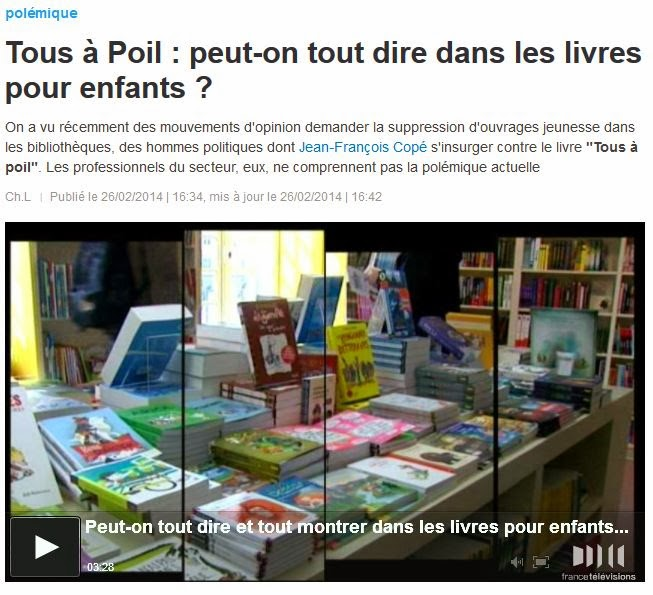 Voir le reportage sur France 3 région Centre - Tous à Poil : peut-on tout dire dans les livres pour enfants ?