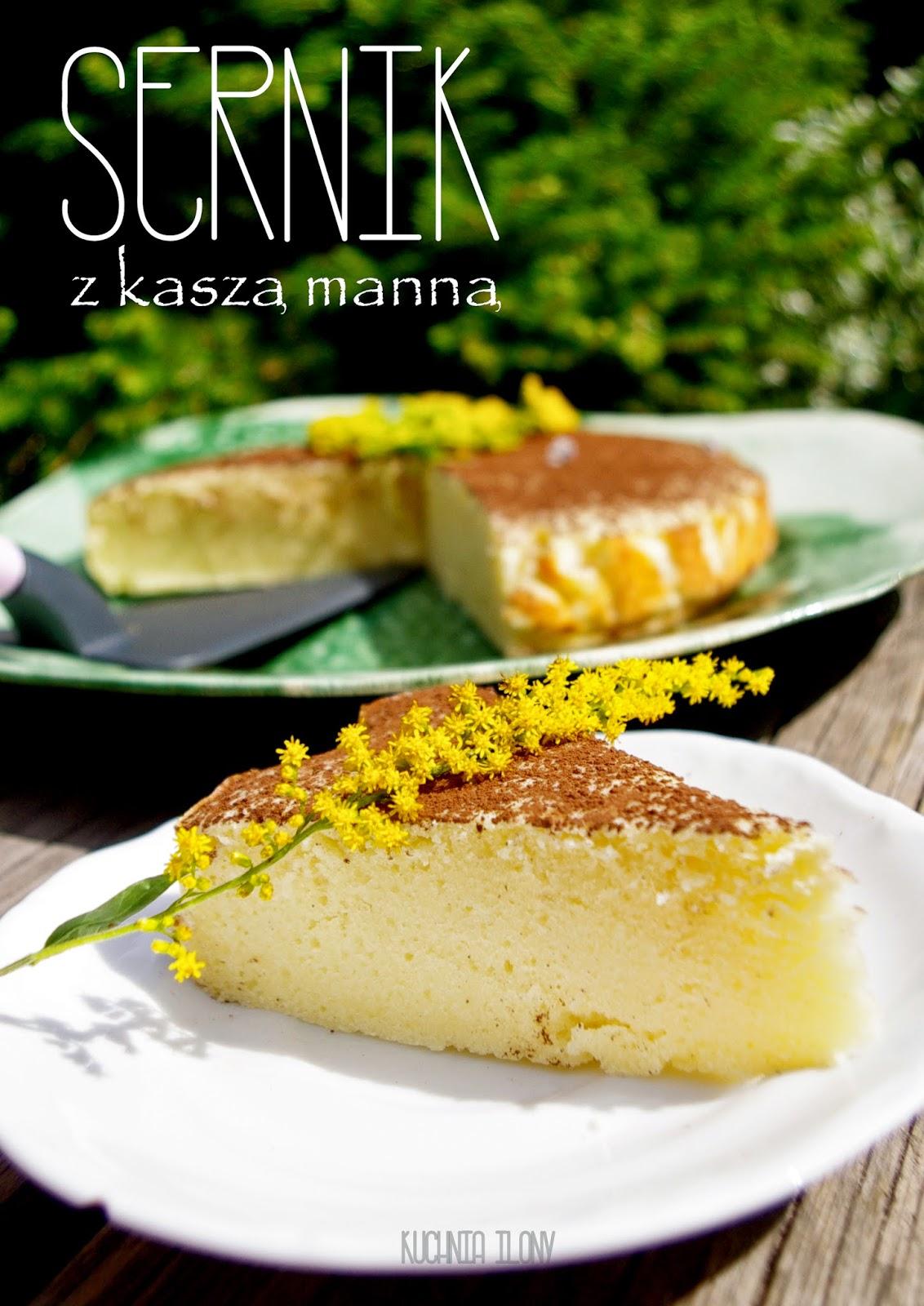 sernik z kaszą manną, sernik, ciasto, sernik pieczony, deser, kasza manna