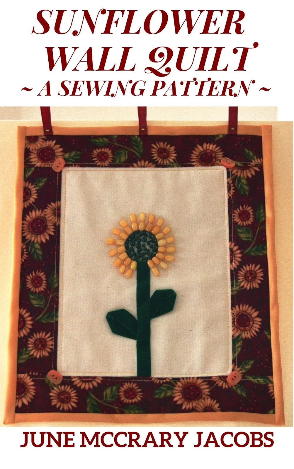 FIND MY 'SUNFLOWER WALL QUILT' SEWING PATTERN ON AMAZON!