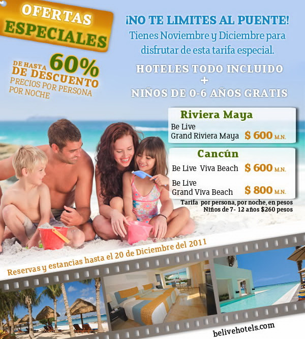 Hoteles Be Live decscuento cupon