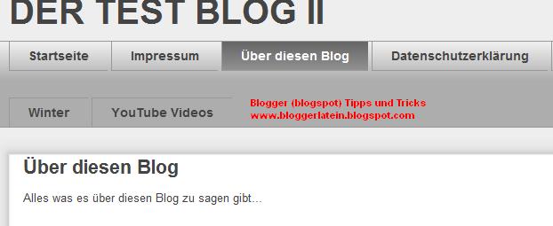 Seiten bei Blogger Blogspot anzeigen. Gadget Seiten. Seitentitel entfernen. Titel einer Seite entfernen.