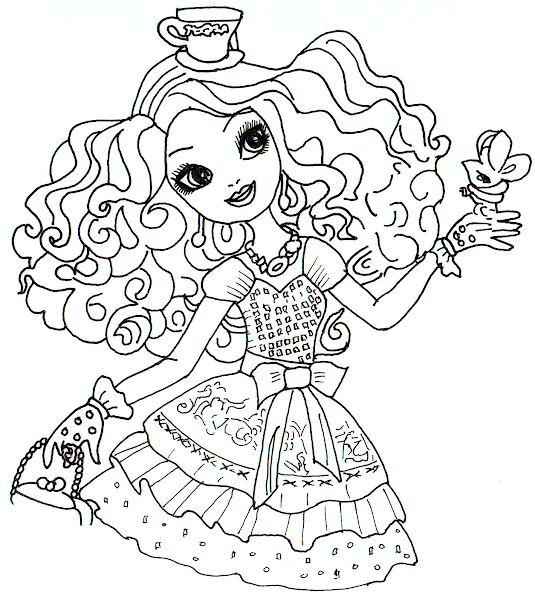 Ever After High Madeline Hatter Coloring Page