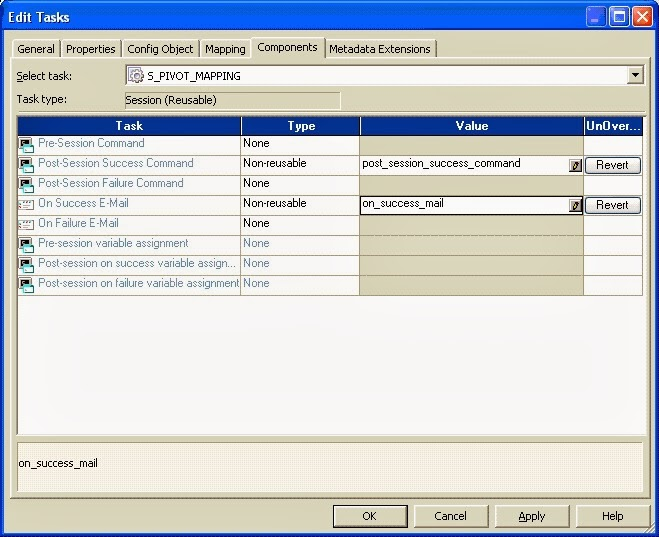 Informatica - Post/Pre Session Variable Assignment