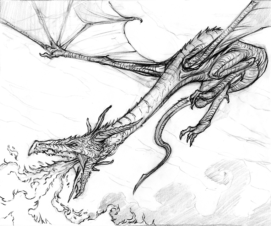 how to draw game of thrones dragons