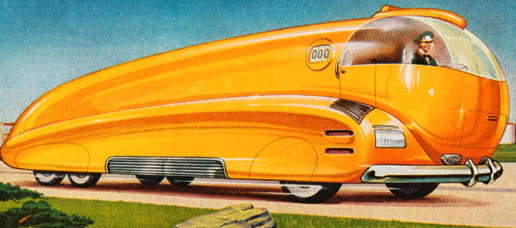 Bus of the future, circa mid 20th Century