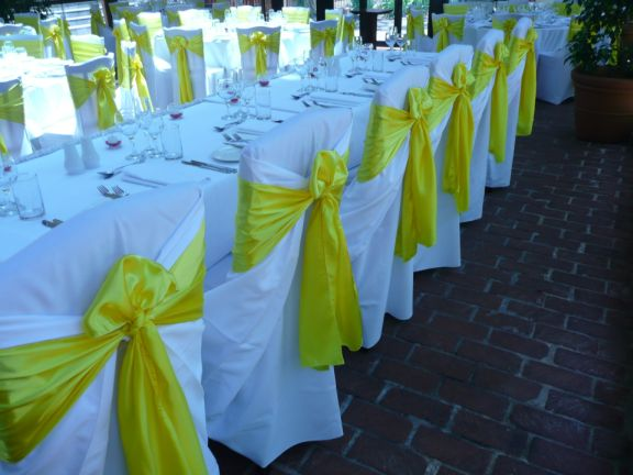 Sashes For Chairs details: different ways to tie chair sashes