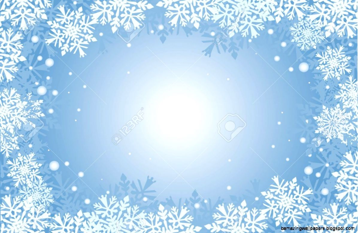 Blue Christmas Card Background With Snowflakes Royalty Free