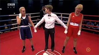 Kinga és Seherezádé a ringben