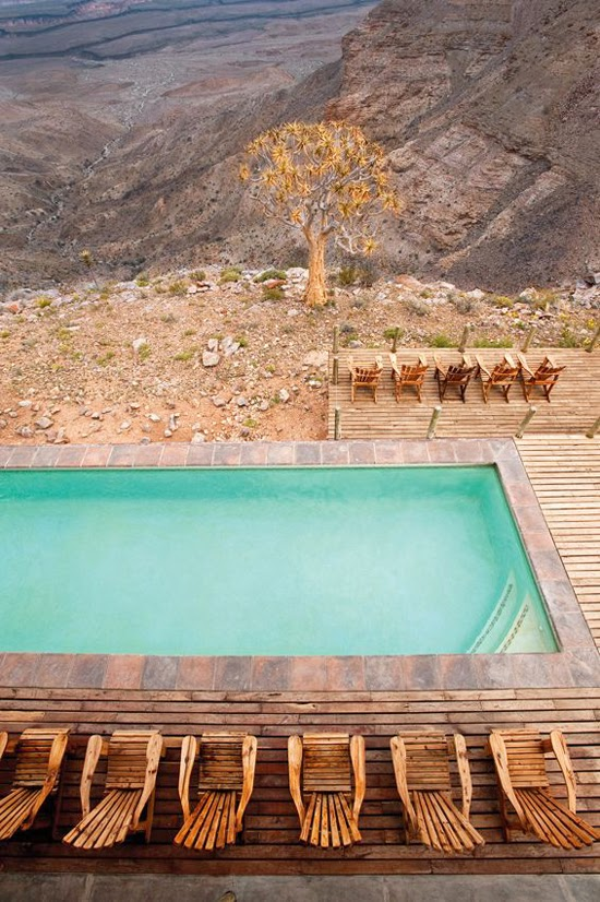 Safari Fusion blog | Take a dip | Spectacular canyon view at Fish River Lodge, Fish River Canyon Namibia