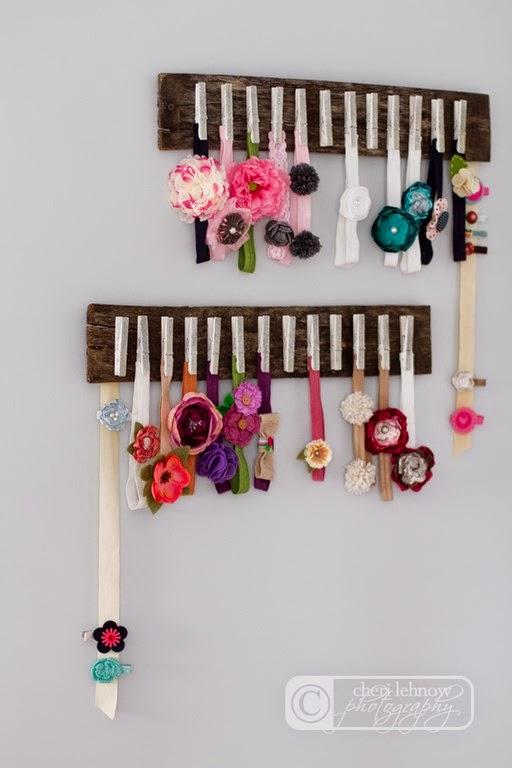 Organizador accesorios pelo con pinzas de la ropa