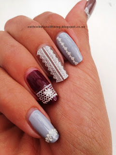 delicate lace nails nail art