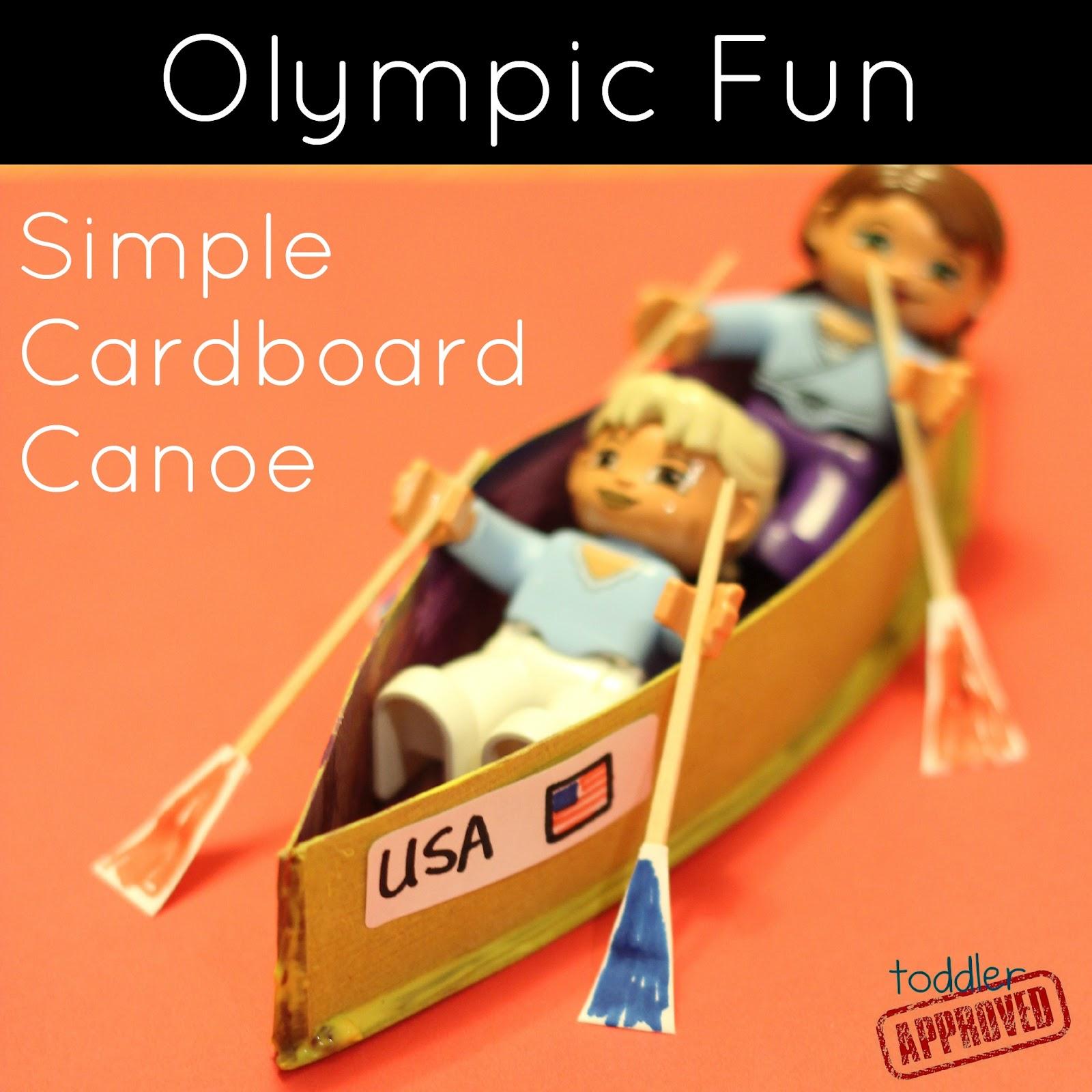 Olympic Fun Simple Cardboard Canoe Craft