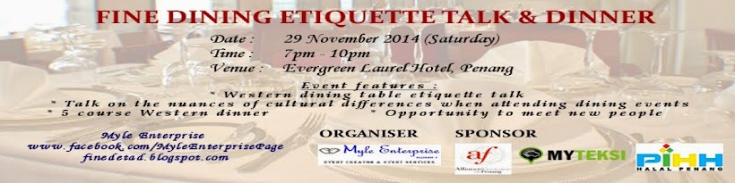 Fine Dining Etiquette Talk   Dinner  Dress code for this event 91226b998
