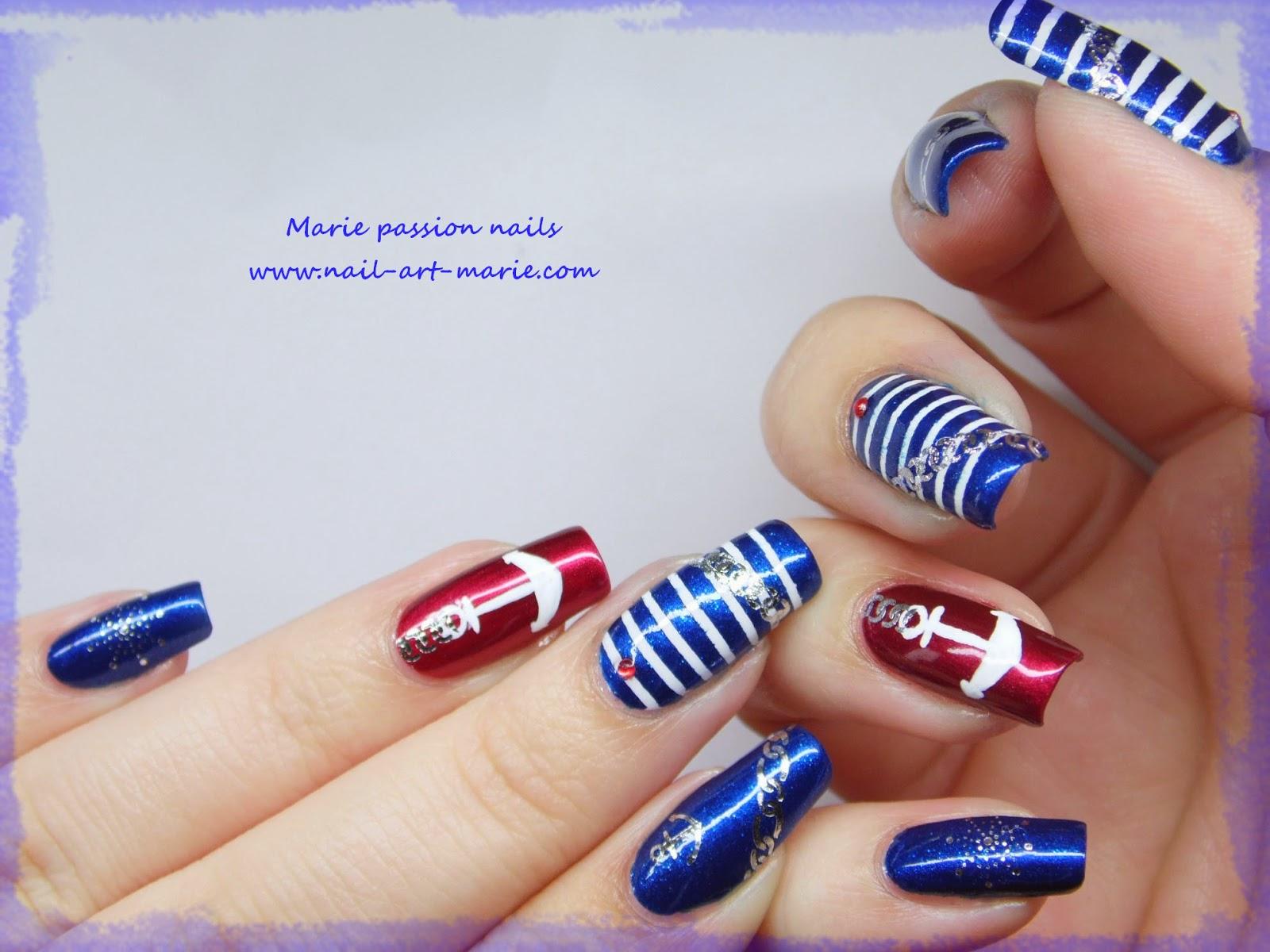 Nail art marin3