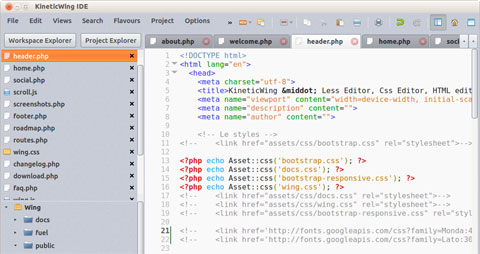 A Modern, Extensible & Free IDE – KineticWing