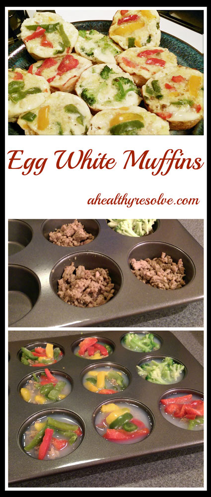 Clean Eating Egg Whites Muffins with turkey sausage