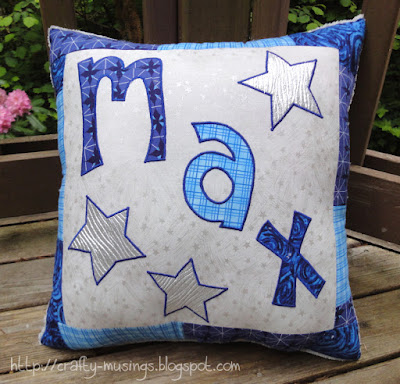 Max's pillow, front view